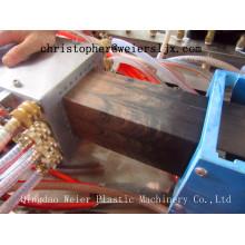 Linha plástica de madeira da extrusão do perfil do PE gêmeo cónico da extrusora de parafuso