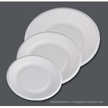 Бумажная пластина для пульпы Биоразлагаемые 6 '' 7 '' 8 '' 9 ''