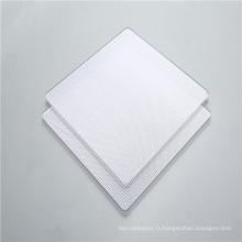 Diffusion de la lumière en feuille de prisme transparent en polycarbonate