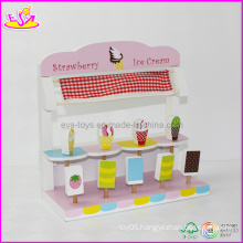Children Strawberry Ice Cream Shop Toy, with 9 PCS Ice Cream Toy (W10A006)