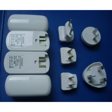 Cargador USB 5V 500mA 1A 2A con enchufe intercambiable
