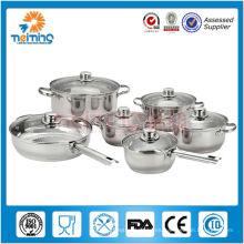 Utensilios de cocina cookline de acero inoxidable 12pcs