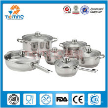 12pcs stainless steel chefline cookware