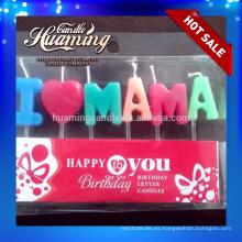 Me encanta MAMA y me encanta PAPA cumpleaños velas letra velas