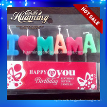 I love MAMA and I love PAPA birthday candles letter candles