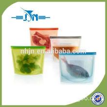 Seal reusable silicone food storage bag/silicone fresh bags