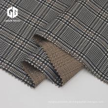 Rayon Polyester Garn gefärbt Jacquard Elastan Stoff