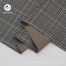 Tejido de elastano jacquard teñido con hilo de poliéster de rayón