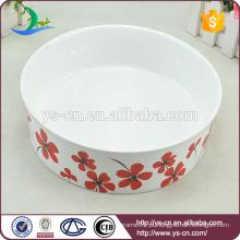 Animal de estimação de cerâmica que alimenta o bacia para o cão do gato