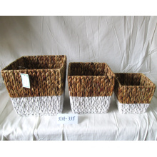 100% Original Factory for Seagrass Flower Plant Pot Rectangular Woven Water Hyacinth Flower Pot export to France Factory