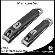 Coupe-ongles Kit de toilettage Manucure et pédicure de voyage en acier inoxydable 3 en 1