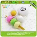 3D Wacky Green Crown Pig Head Shaped Eraser