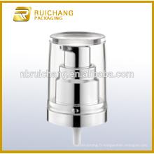 Pompe à lotions de revêtement UV en plastique / pompe à loches crème de 20 mm / distributeur de pompe à lotions de revêtement UV avec AS overcap