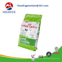Plástico que levanta sacos do alimento do animal de estimação Sacos do alimento do cão
