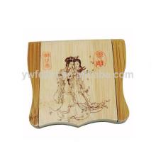 espejo de mano de madera chino cuadrado barato al por mayor