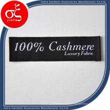 Etiqueta tecida personalizada da roupa do cetim para o vestuário