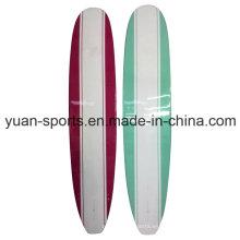 Tabla de surf de resina epoxi, tablero largo de varios colores
