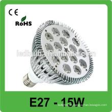2015 dimmable LED 15w holofotes E27 levou spot iluminação