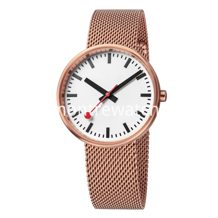 unisex rose gold watch