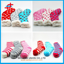 Custom 2015 New Winter Cotton Velvet Knitted Soft Indoor Socks home slipper sock