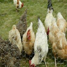 Rede de arame hexagonal para uso em animais de fazenda