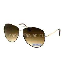Lunettes de soleil classiques et de haute qualité en métal avec lentille AC