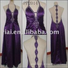 Echt maßgeschneiderte Perlenparty Kleid