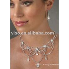Ensemble classique de bijoux en strass