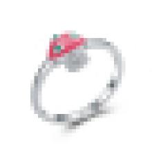 Anillo de plata de ley 925 precioso pequeño anillo de seta fresca