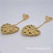 Fashion Accessories Heart Shape Stainless Steel Dangle Earring