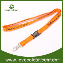 Brown leather lanyard with card holder