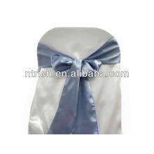 Marco de la silla del satén de bígaro, lazos de silla, envolturas para hotel de banquete de boda
