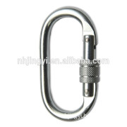 Fall Protection Strong Tensile Mountain Rock Climbing hook knot Screw Locking stainless steel Carabiner