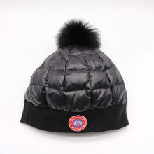 Moda de malha de alta qualidade personalizado logotipo chapéu de inverno
