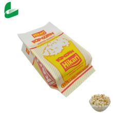 Bolsa de papel de palomitas de maíz para microondas a prueba de grasa a precio de fábrica