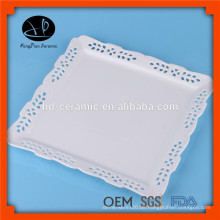Personalisierte Druck dekorative Keramikplatte, quadratische Platte