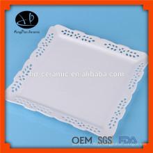 Impressão personalizada placa de cerâmica decorativa, placa quadrada