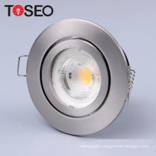 adjustable die casting zinc 12 volt gu10 lamp/ halogen round recessed ceiling light fixture fittings spotlight