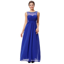 Starzz Sleeveless Chiffon Ball Gown Royal Blue Prom Dress Party Dress ST000064-3