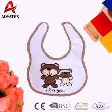 Poliéster, varios modelos de animales que imprimen baberos de la baba del bebé