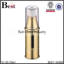 небольшая прозрачная двойная стена акриловый безвоздушный насос бутылка для косметической