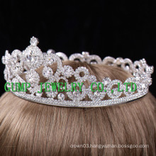 2016 Bride Slloy Silver Plated Rhinestone Crown
