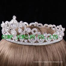 2016 Невеста Slloy Посеребренная горная хрустальная корона