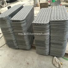 Fisheye Bentuk / Anti-slip Logam Perforated Metal / Punched Metal Sheet