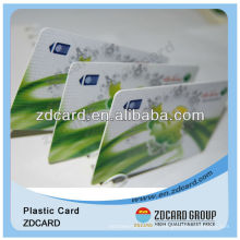 Carte d'identité futée / carte de visite de PVC / carte transparente de PVC