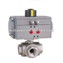 Pneumatic 3 Inch Stainless Steel 3 Way Ball Valve