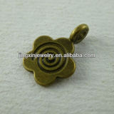 Metal Bronze Litter Flower Nacelace Charms Accessories Pendants Scarf