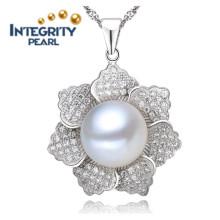 Colgante de perlas de agua dulce de diseño AAA 9-10mm colgante de perlas