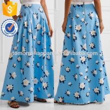 Nouvelle mode plissée jupe Maxi en coton imprimé DEM / DOM Fabrication en gros de mode femmes vêtements (TA5148)