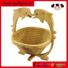 Марка КТ портативный складной бамбука корзина для пикника